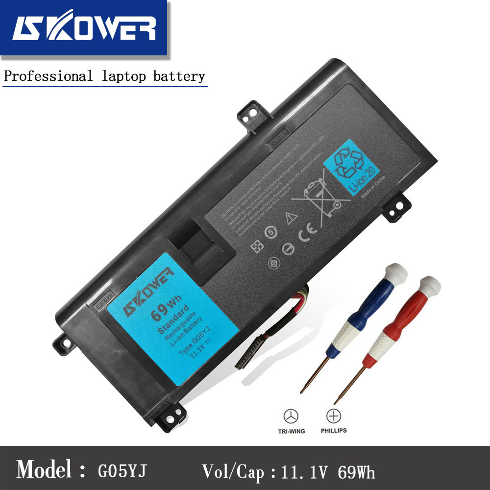 SKOWER 11.1V 69WH G05YJ Battery For Dell Alienware 14 A14 M14X R3 R4 0G05YJ Y3PN0 8X70T Laptop