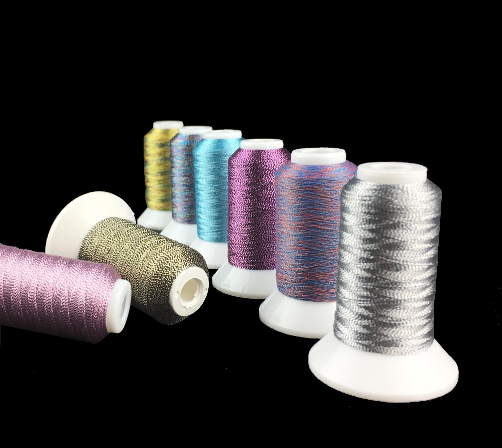 Simthread Metallic Embroidery Thread High Quality National Colors For Brother/Babylock/Janome/Singer/Pfaff/Husqvaran/Bernina