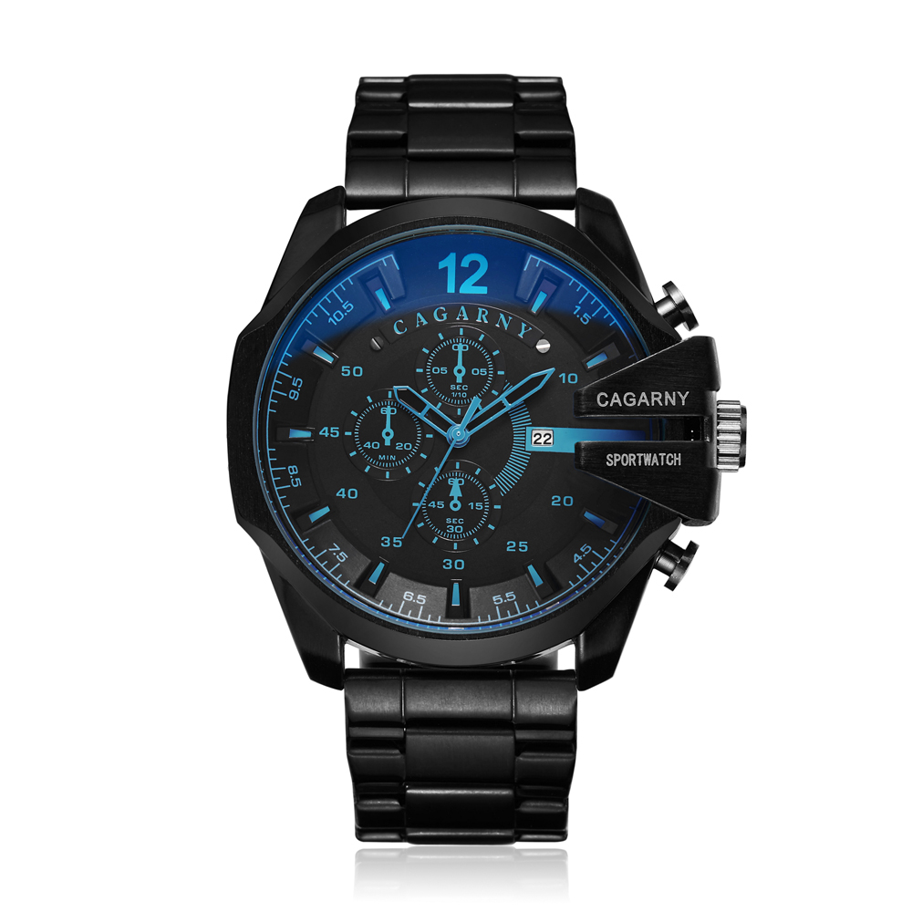 top luxury brand cagarny quartz watch for men gold steel band waterproof dz military Relogio Masculino mens watches drop shipping clock man cheap price (36)