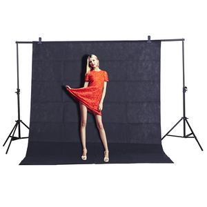 Image 2 - CY Heißer verkauf Foto hintergrund tuch 1,6*3 mt/5 * 10FT Schwarz Fotografie Studio Non woven hintergrund Hintergrund Bildschirm schießen porträt