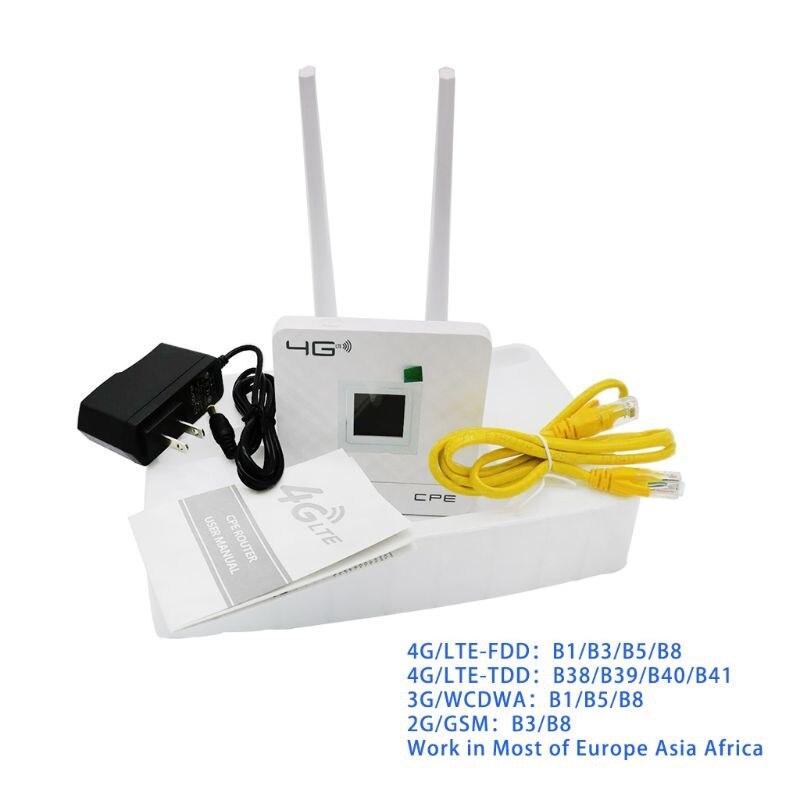 Routeur Wifi sans fil CPE 4G passerelle Portable FDD TDD LTE WCDMA GSM déverrouillage Global antennes externes emplacement pour carte SIM Port LAN WAN