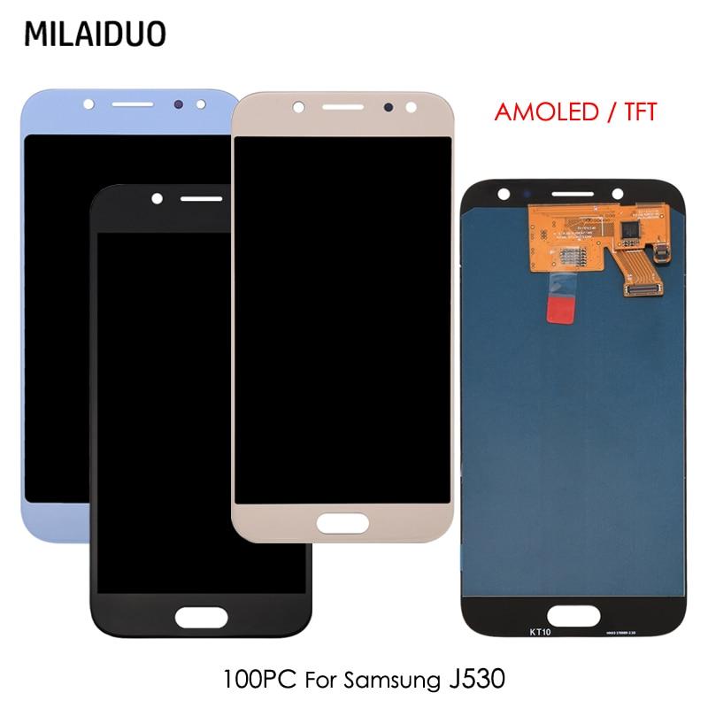 100 pièces AMOLED/TFT pour Samsung Galaxy J5 pro 2017 J530 J530F SM-J530F J530FM LCD écran tactile numériseur réglable