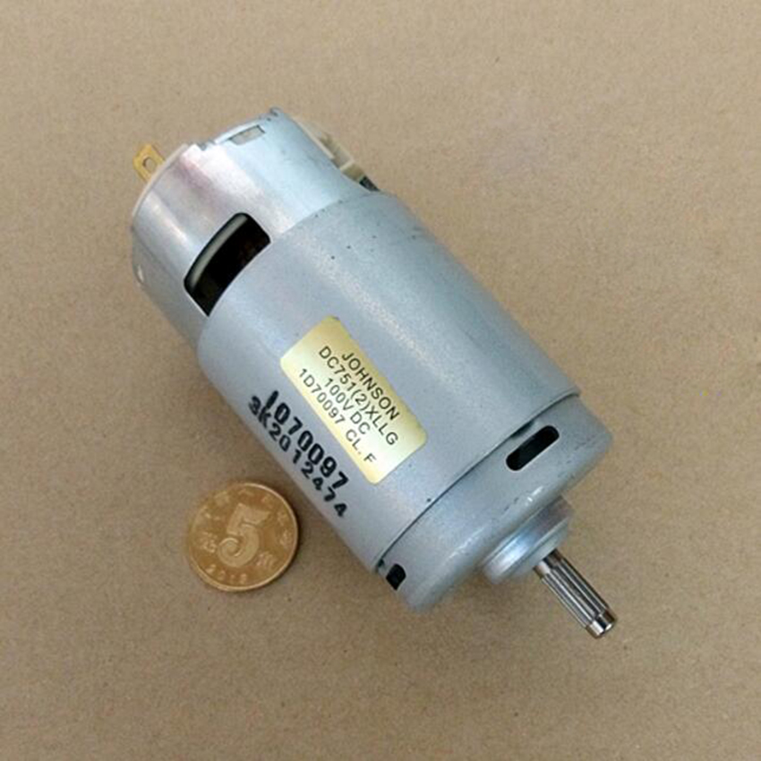 Intellective Dc24v 36v 60v 120v 7512 Miniature Compensated Carbon Brush Permanent Magnet Motor Power Tools/diy Accessories Motor To Rank First Among Similar Products Motors & Parts