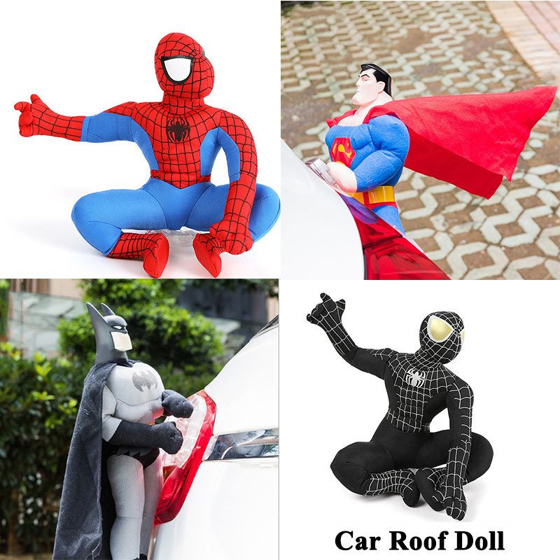 1pc Car Roof Doll Outside Cute Funny Car Trunk Body Hang Plu