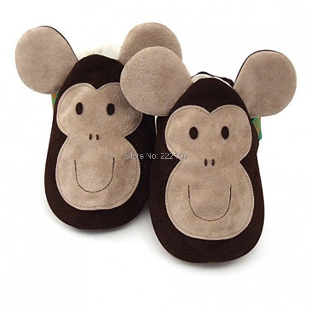 For 0-6M Baby Footcovers Sofe Sole First Walkers Newborn Crib Shoes Monkey Animal Style