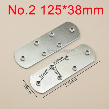 10pcs 125*38mm Iron Sraight Strip Corner Brackets Metal Shelf Support Repair Fixing furniture Connecting fittings K260