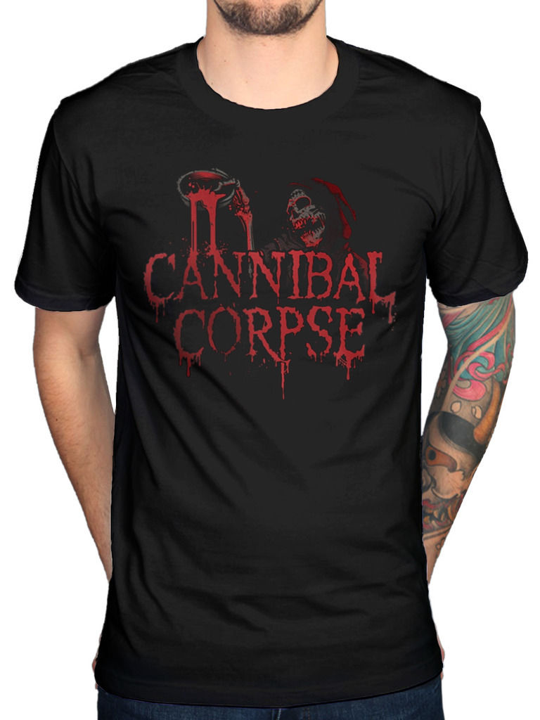 O Neck Short Sleeves Boy Cotton Men Official Cannibal Corpse Acid Blood T-Shirt Skeletal Domain Bloodthirst Torture