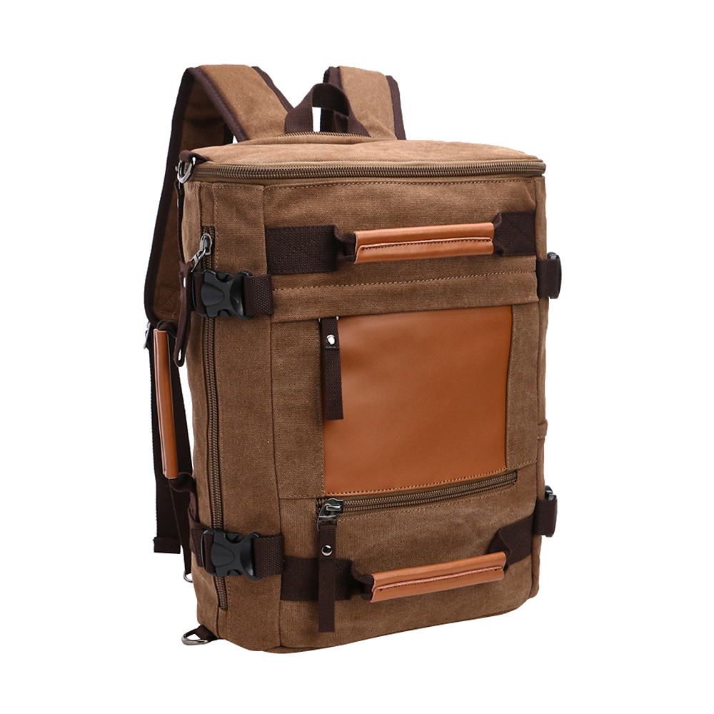 New Mulitifunctional Men Canvas Backpack Huge Travel School Laptop Shoulder Bag Functional Versatile Bags new gravity falls backpack casual backpacks teenagers school bag men women s student school bags travel shoulder bag laptop bags