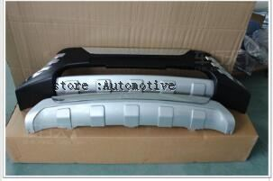 комплект бамперов | Передний и задний бампер пластины формования крышку отделкой для Hyundai Tucson IX35 2010 ~ 2011 2 шт. комплект