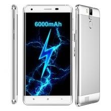 6000 mAh Smartphone OUKITEL K6000 Pro 4G LTE 32 GB ROM 3 GB RAM 5.5 pouce 1080*1920 Android 6.0 MTK6753 Octa Core OTG GPS 16.0MP + 8MP