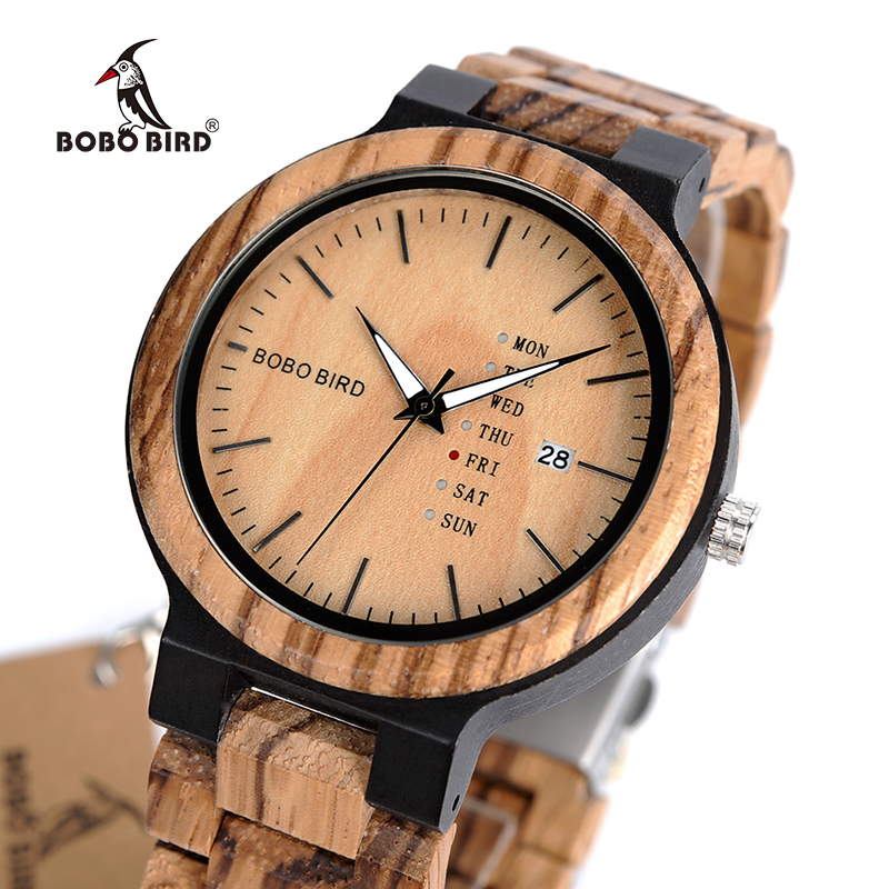 customize watch sport bird auto b male accept men bobobird watches case logo date wooden and wristwatch metal bobo