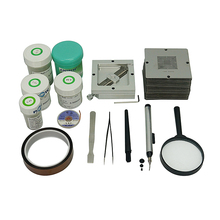 цена на silver BGA reballing kit 184pcs 90mm BGA Stencil Universal BGA Reballing Station