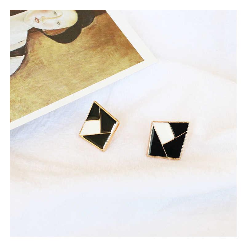 아가일 귀걸이 스터드 흑백 색상 성격 가을과 겨울 귀걸이 선물