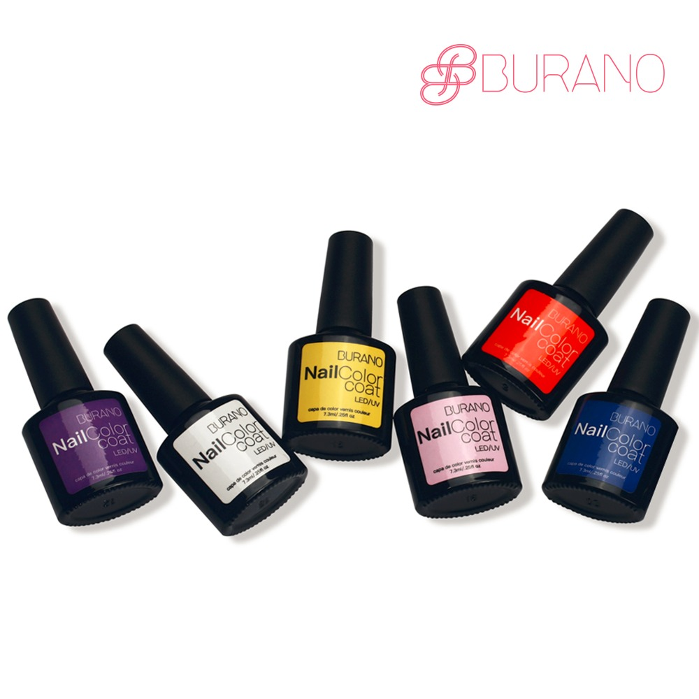 BURANO 6pcs/set uv led soak off gel polish nail gel choose 6 colors from 48 colors nail art tools nail gel polish set sample of the gel polish from cola