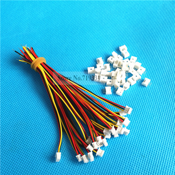 50Sets 3 Pin Single End SH Pitch 1 25mm 28AWG Wire To Board Connector