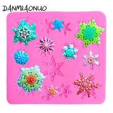 Christmas Decor 3D Snowflake Lace Cake Mold Decorating Baking Tool Silicone Mould 3d Chocolate Molds Wedding Cake Stand Lollipop недорого