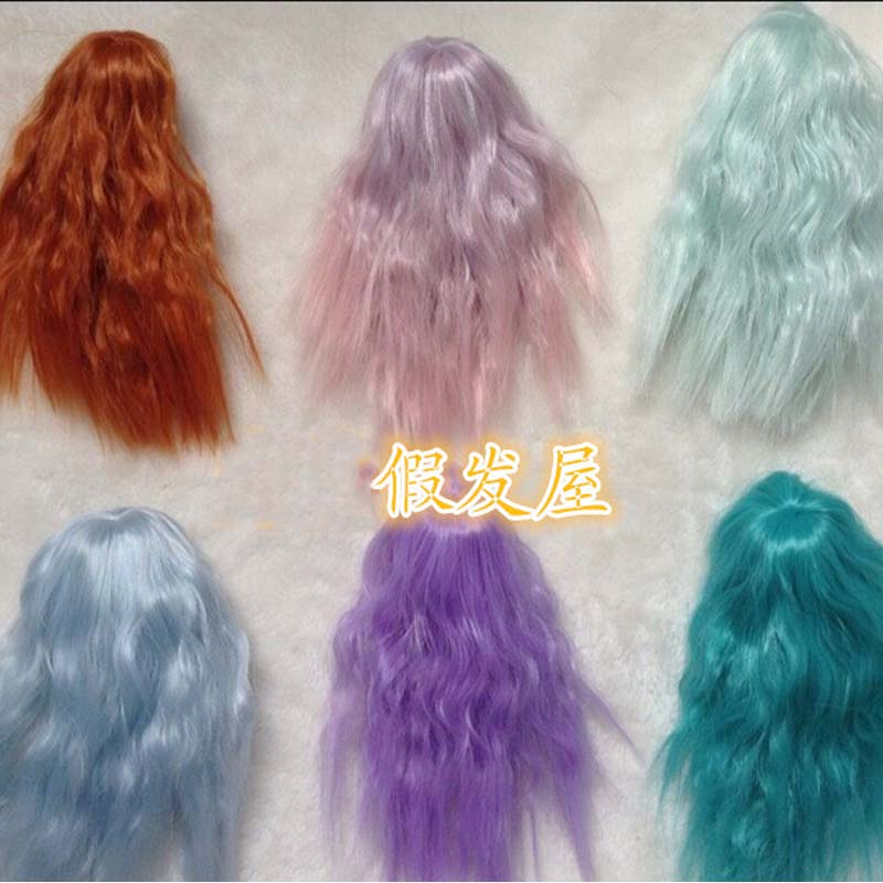 1PCS Various Colors SD BJD Doll Wigs  Curly 1/12 Kurhn Doll Wig uncle 1 3 1 4 1 6 doll accessories for bjd sd bjd eyelashes for doll 1 pair tx 03