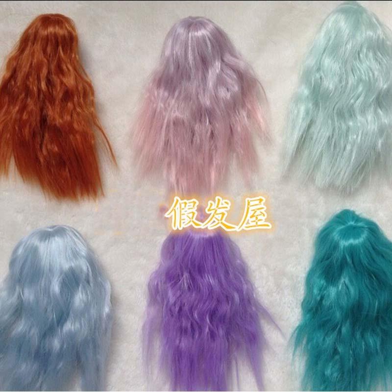 1PCS Various Colors SD BJD Doll Wigs  Curly 1/12 Kurhn Doll Wig 1 3 1 4 1 6 1 8 1 12 bjd wigs fashion light gray fur wig bjd sd short wig for diy dollfie