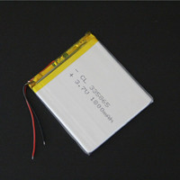 A 3.7V polymer lithium battery of mobile DVD Walkman GPS navigator 335865 power 1800mAh Rechargeable Li ion Cell