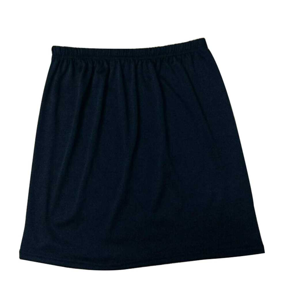 Women Summer Stretch Satin Half Skirt Anti-slip Short Petticoat High Waist Solid Hip Skirts Ladies Casual Accessories image