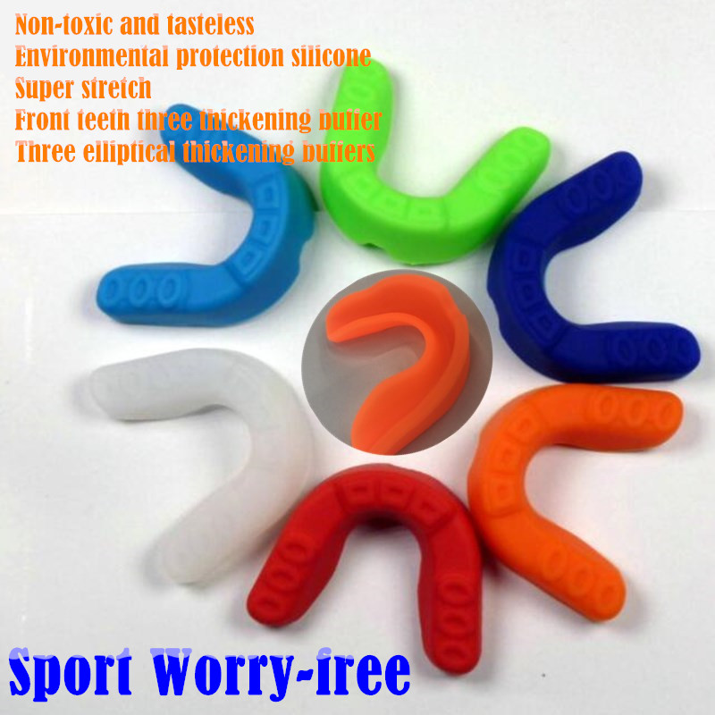 3pcs Stretch Single Side Silicone Mouthguard Braces /Denture/Football Basketball Boxing Gum Shield Gear Sport Tooth Protection
