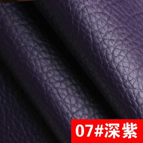 07 # donker paars Hoge Kwaliteit PU Leer stof zoals leechee voor DIY naaien sofa tafel schoenen tassen bed materiaal (138*100 cm)