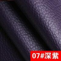 07 Dark Purple High Quality PU Leather Fabric Like Leechee For DIY Sewing Sofa Table Shoes