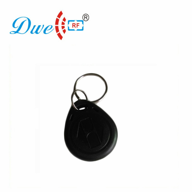 DWE CC RF Access Control Card 125khz EM4100 RFID Keyfob Black Token Key Tag For Access Control System K002