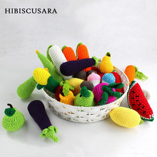 Newborn Photography Props Fruit Vegetables Crochet Knitted Accessories Ornaments Carrot Baby Photo Props Toys Lemon Mushroom