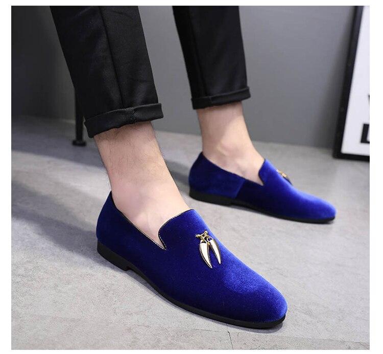 Negro Otoño Mocasines 2 Espárragos Hombre Pisos Zapatos Azul Masculinos 3 Rojo Conducción 1 Casuales 2018 Mujers Para Boda Terciopelo r8rBAHq