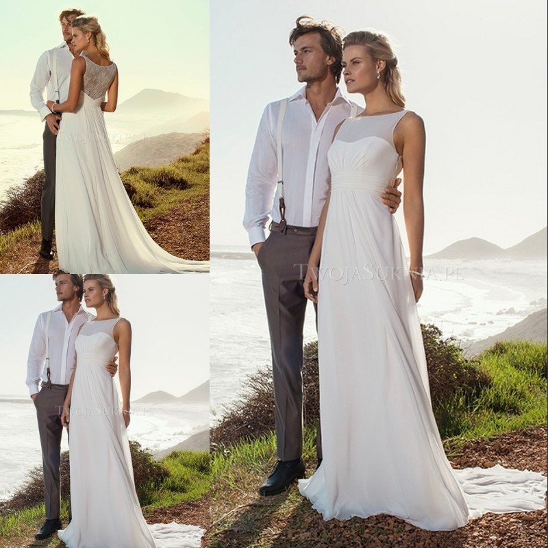 Simple Wedding Dress High Neck : High quality new simple summer beach wedding dress