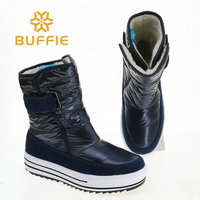 Soft boots 2018 new women style winter shoes warm fur insole fashion look brand dark colour buckle fast put on light weight good