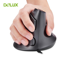 Delux M618 PC Computer Wired Vertical Mouse Ergonomic Mause USB 1600 DPI Optical Upright Mice With