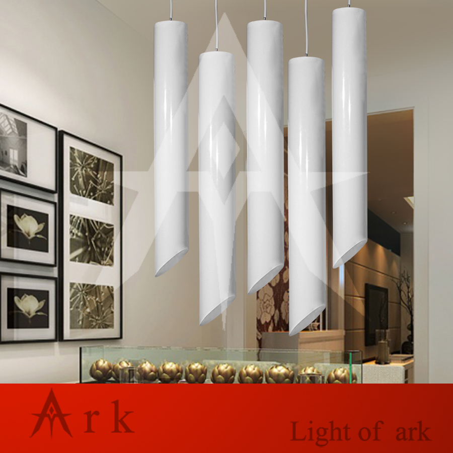 creative modern simple single Restaurant light bar cylindrical long tube custom dinning room led pendant lights