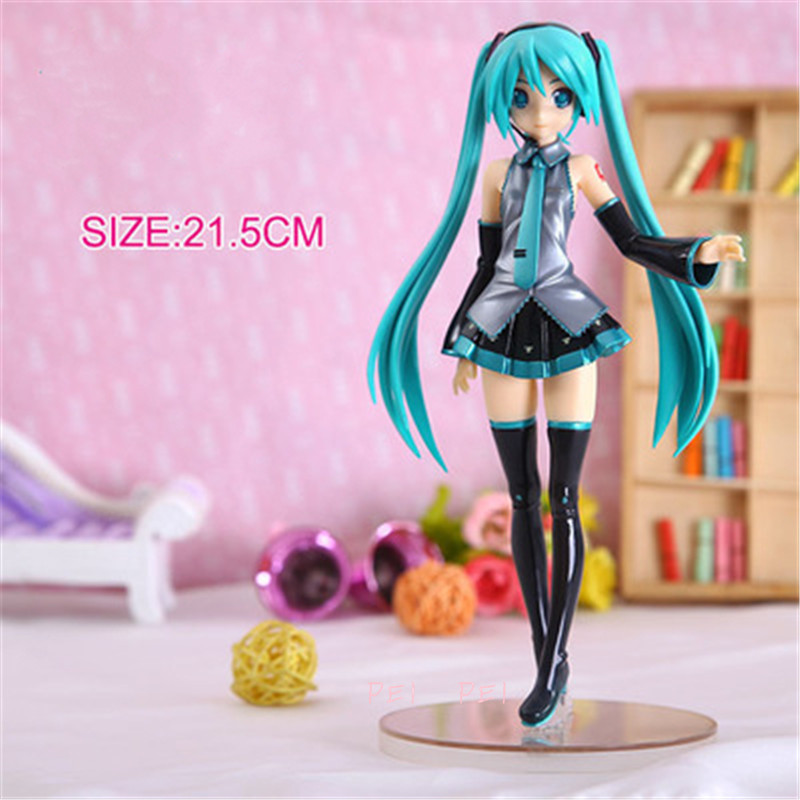 Anime Hatsune Miku 2015 uniform VER. Miku Standing Posture PVC Action Figure Collectible Model Toy 20 CM BOX P1495 image