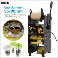XEOLEO 컵 씰링 기계 수동 실러 9/9.5cm 거품 기계 커피/주스/우유 차 인감 기계 Boba 차 기계