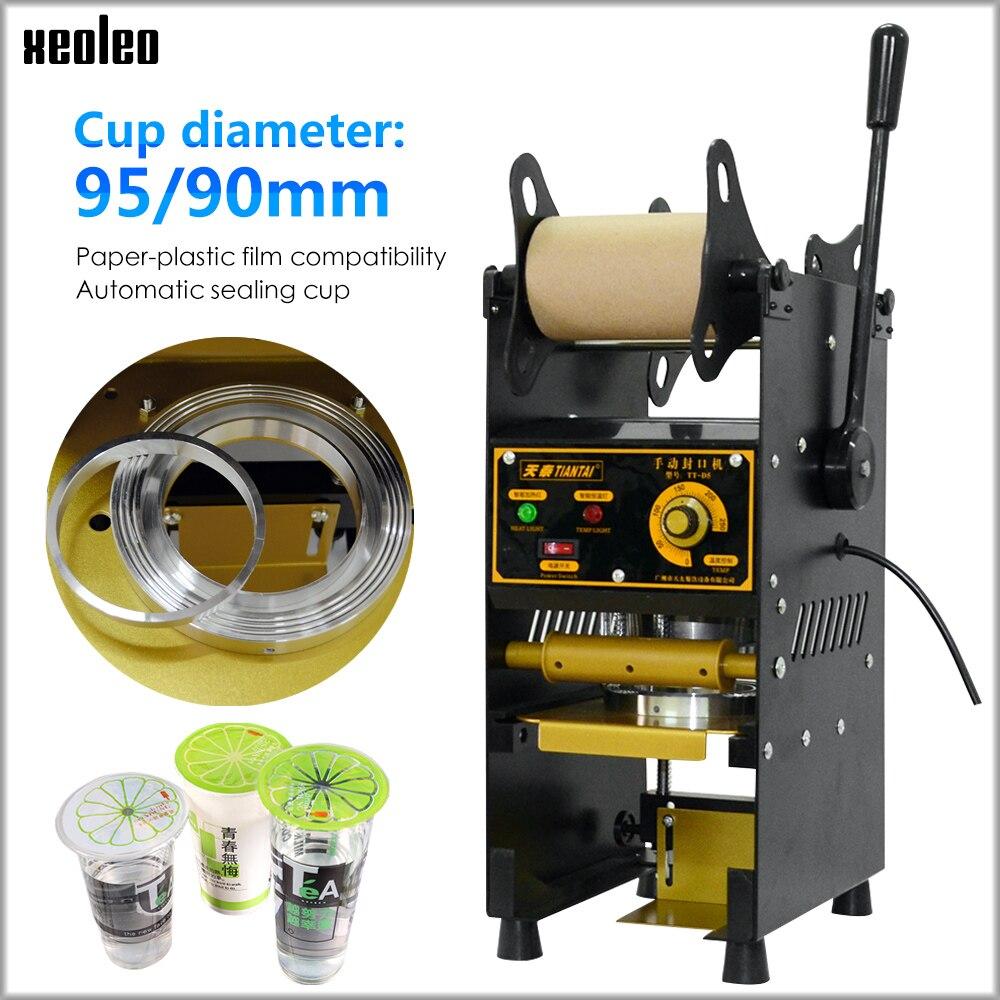 XEOLEO Cup Sealing Machine Manual Cup Sealer 9/9.5cm Bubble Tea Machine For Coffee/Juice/Milk Tea Seal Machine  Boba Tea Machine