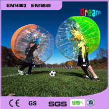 Inflatable colorful human  hamster ball/soccer bubble ball/bumper ballzorb ball for football