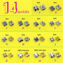 14 모델 5pcs 각 5PIN 8Pin 10Pin 미니 USB 커넥터 잭 충전 포트 전원 소켓 MP3 MP4 MP5 자동차 DVR DIY 전기 장난감