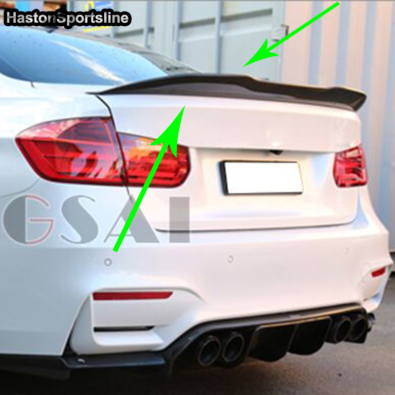 F30 F80 M3 Modified PSM Style Carbon Fiber Rear Trunk Luggage Compartment Spoiler Car Wing for BMW F30 F80 2012-2017