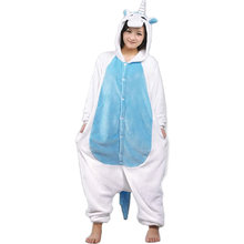 Wholesale Winter Warm Unisex Flannel Animal Pajama Sets Unicorn Costume Sleepwear Pijamas Pyjama For Women Men Blue Pink Rose