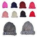 Mulheres Versão Coreana Queda Pontudos Linhas Grossas de Inverno Quente Gorro de Lã Chapéu Feito Malha