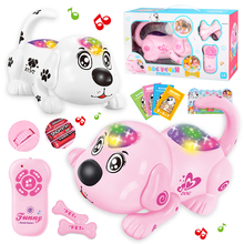 Electronic Pet Dog Robot Toy Crawling Rollover Singing Electronic Toys Remote Control Lol Educational Toys For Children Musical electronic toys sound light walking robot dog robot toy educational toys for children musical lol electronic pet dog
