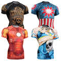Technical 3d Printing Full Skull Graphic Fitness & Exercise New Compression Tights Weightlifting Bodybuilding MMA Tops Tee