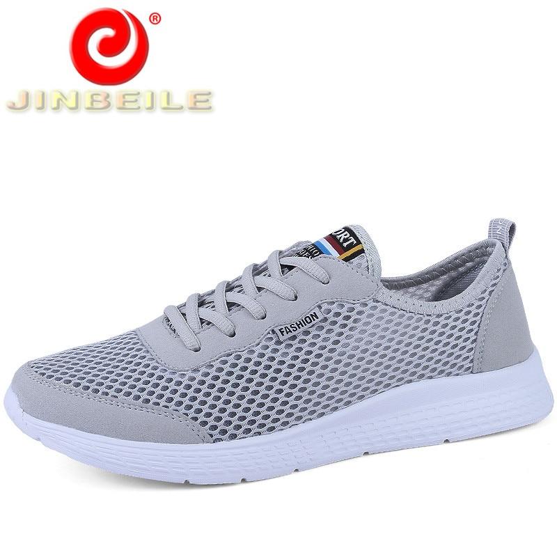 JINBEILE Ultra-light Summer Men Running Shoes Women Breathe Mesh Men Sneakers Women Outdoor Sports Shoes Men Big Size Couple