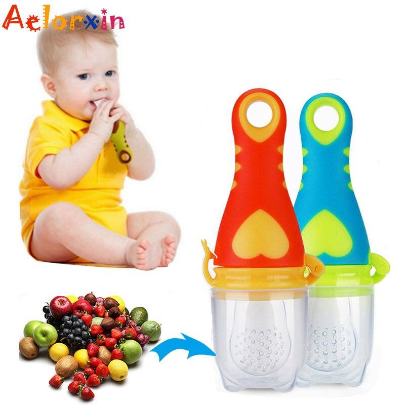Baby Nipple Fresh Food Milk Nibbler Feeder Feeding Safe Baby Pacifier Supplie Kq