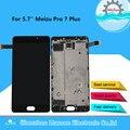 Оригинальный M & Sen Для 5,7 ''Meizu Pro 7 Plus ЖК-экран + сенсорная панель дигитайзер с рамкой для Pro7 Plus Super AMOLED дисплей