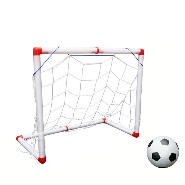 3eee334eefda4d Sports Soccer Goals with Soccer Ball and Pump Practice Scrimmage Game  Football Gate Train Garden Game Football Door Sets