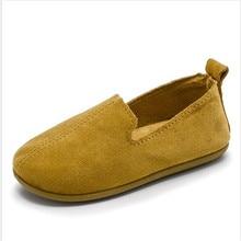 2018 nuevos zapatos de haba de cuatro sojas de la primavera del color zapatos de la muchacha de la princesa de la parte inferior suave del color puro
