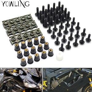 Image 1 - 40 Uds tornillos de carenado para parabrisas de motocicleta tuercas tornillos Kit de arandela Clips de sujeción y tornillos para honda CBR 600 F2,F3,F4,F4i CBR600RR